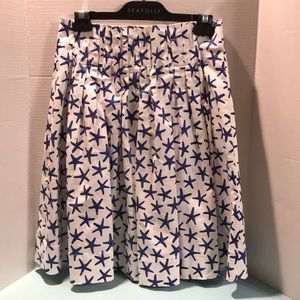 Kate Spade Brooke Street Starfish Skirt W/Pockets